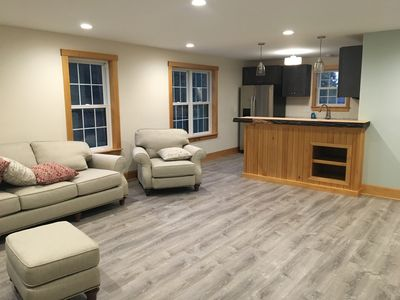 Photo for New two-bedroom second story apartment near Acadia national Park.