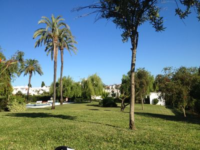 Photo for Great apartment in beautiful garden 3 km from Puerto Banús.