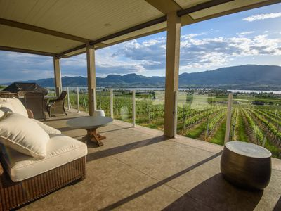 Photo for Moon Curser Vineyards - The Hideout Guest House, luxury 3-bedroom vineyard/lakeview suite