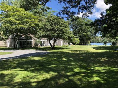 Photo for Truly antique Cape Cod house with its own beach on Scargo Lake near bay