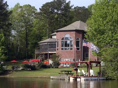 Photo for Bama Lakeside Retreat! POOLS, LAKE, BOAT,GAMEROOM! Mis. State & Missouri Avail.!