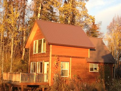 Photo for Above the Valley - Cozy Denali View Cottage