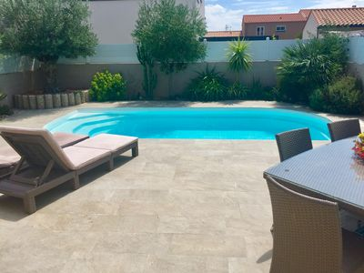 Photo for BEAUTIFUL CONTEMPORARY VILLA WITH SWIMMING POOL 2 MINUTES FROM THE BEACHES