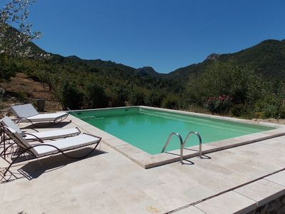 Photo for Spacious Holiday Home with Swimming Pool in Montaulieu