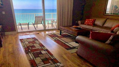 Photo for Tidewater 1708- HUGE Gulf Front 2 BR/Sleeps 8 + Free Beach Package- 1,593 sq ft