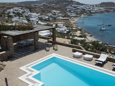 Photo for Villa Ortygia in Mykonos, with panoramic views, shared pool, 5 bedrooms, 10 sleeps