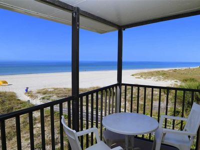 Photo for Direct Beach Front Balcony Corner Unit Top Floor - Free Wifi - Sleeps up to 4 - 348 Surf Song