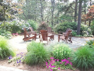 Beautiful gardens surrounding patio - 138 Soundview Avenue Chatham Cape Cod New England Vacation Rentals