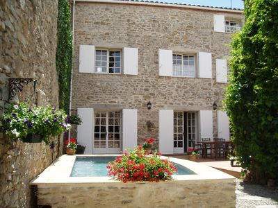 Photo for Spacious 11th C. Stone House in Languedoc with Pool.