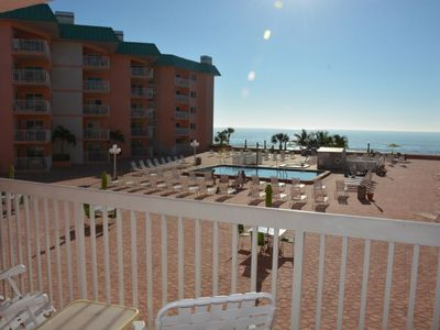 Photo for Escape to a Romantic Getaway with this Gulf Coast 1 bedroom Beachfront Condo!! Beach Cottags II 2205
