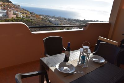 Here you can sit in the evenings and enjoy the view with a glas of wine!