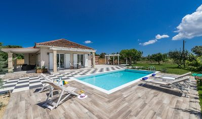 Photo for Beautiful Luxurious Villa with A/C, WiFi, Private Pool, Garden, 5 km to the Sea & Zakynthos Town!