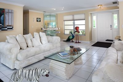 Living Area with Doors to Lanai and Pool