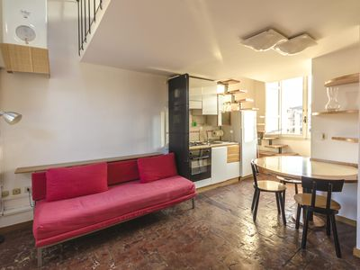 Photo for San Vitale apartment in Bologna with WiFi, integrated air conditioning & lift.