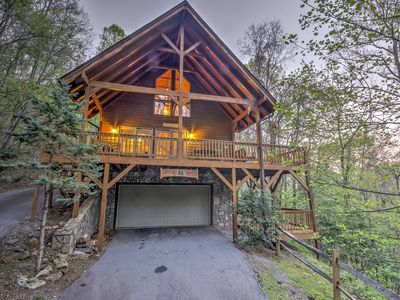 Photo for Spacious Maggie Valley Cabin w/Hot Tub & Mtn Views