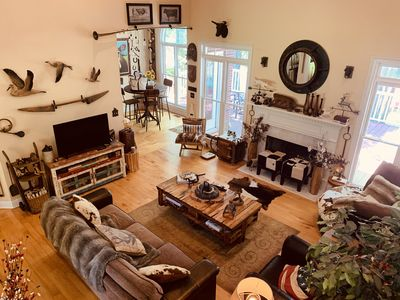 Photo for Lakefront Artsy/Spacious Reynolds Farm House w/Fire Pit (Kayak & SUPs incl.)
