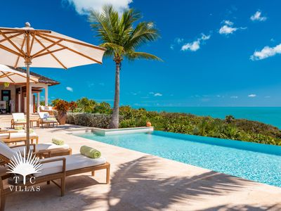 Photo for Villa Alamandra // Oceanfront villa with private dock, infinity pool, and +