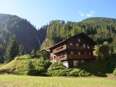 Photo for Romantic mountain chalet in idyllic location behind the waterfall at St Jakob