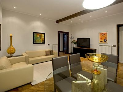 Photo for Flavia apartment in Termini Stazione with WiFi, integrated air conditioning & lift.