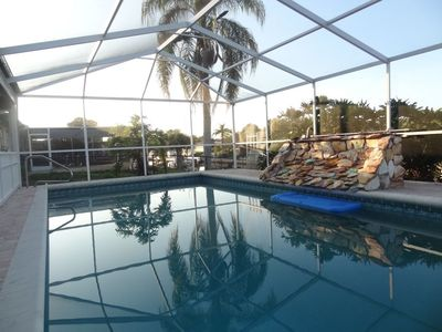 Photo for New Listing! The Villa Dolphins: 5 mins to Manasota Beach! Private Pool! Dock!