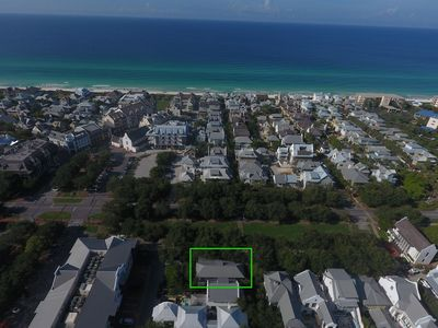 Aerial View - Located on the West Long Green in Rosemary Beach