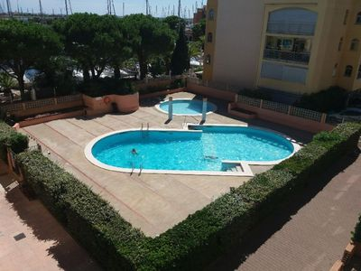 Photo for T2 apartment in residence with swimming pools and view of the port (with parking)