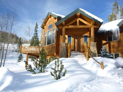 Photo for Secluded Ruby Ranch Luxury Log Retreat ~ Hot Tub, Pool Table, Privacy