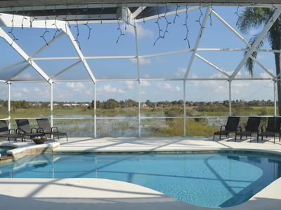 Close to Disney, Wetland peaceful view, Sunny Extended Pool/Spa Area ,Games Room