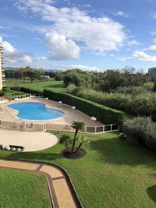 Photo for Mandelieu T2 rental with breathtaking views of the golf course