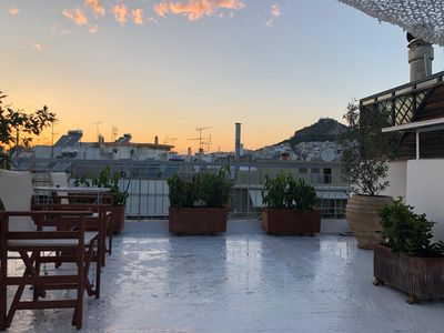 Photo for Athens center penthouse with roof terrace