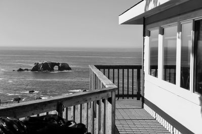 View from front door and 360 degree wraparound deck.