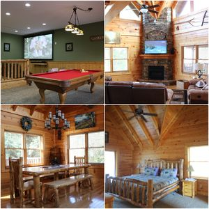 Photo for 2x King Suites - 120in Home Theater - Pool Table - HotTub - WiFi - Easy Access