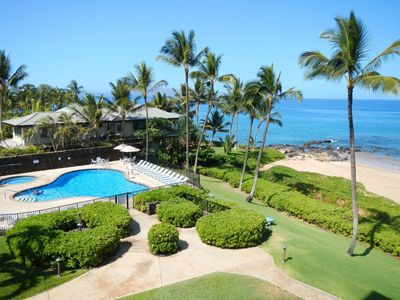 View from our lanai! Famous Polo Beach is literally footsteps away!