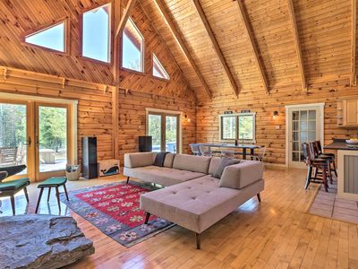 Photo for NEW-Modern Log Cabin w/Deck & BBQ in the Catskills
