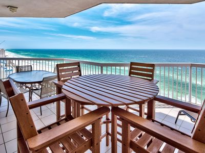 Photo for Voted #1 condominium In Silver Beach Jaw Dropping Views C Dolphins! Balcony
