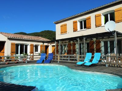 Photo for Villa with private pool between mountains and sea