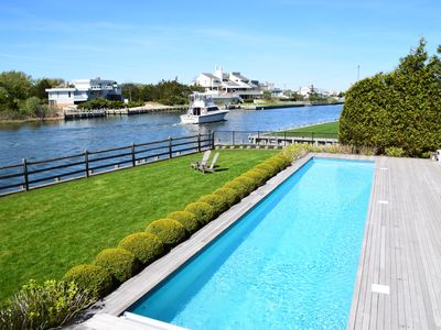 Photo for Hamptons Waterfront Villa on Dune road