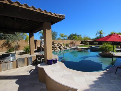 Photo for 5 Bd House In N. Scottsdale With Resort Style Back Yard With Heated Pool And Spa