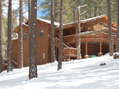 Photo for Luxury Secluded 3BR Cabin in Pines on 3 acres - Flagstaff/ Grand Canyon