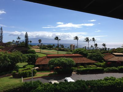 View from the lanai. Relax and enjoy the Maui sunsets right from the lanai!