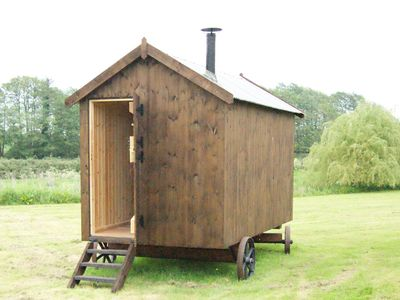 Photo for Handmade Shepherds Hut on beautiful Norfolk farm