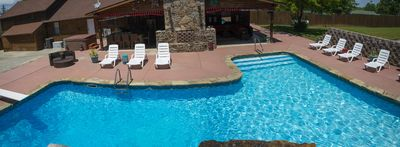 Photo for CASA DE BEERS, Beautiful Log Home Resort style Pool, steps from Lake Norfolk