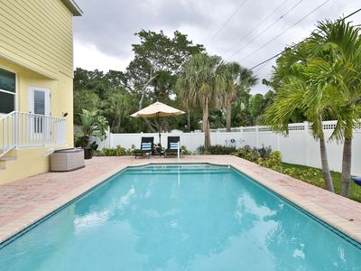 Photo for Walk to Village, Heated Saltwater Pool,  Bike/Walk to Beach, WiFi/Cable, Custom Home