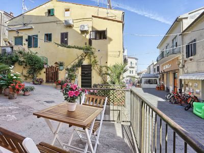 Photo for Romantic Apartment In Historic Centre with Patio and Short Drive From Beach; Pets Allowed