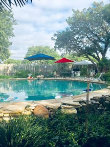 Photo for Cozy Cabin w/ beautiful  property guest  pool w/ lake access. Sleeps  4!