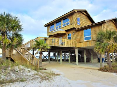 Photo for Views, Views, Views! 2 large patios, private Pier and beach on Lagoon