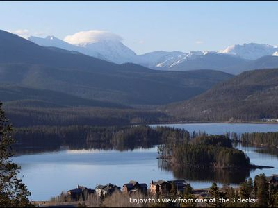 Photo for Spectacular views of all three lakes and Rocky Mountain peaks