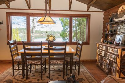 Bear Dining Area over Lake Colby, seats 6