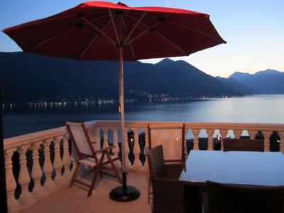 Photo for Apartment in Dobrota with spectacular uninterrupted views of Boka Kotorska