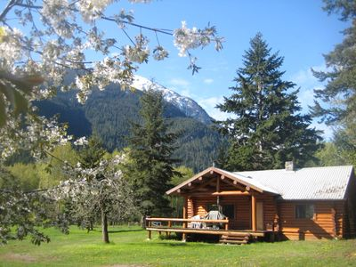 Photo for LOG COTTAGE AT GATES LAKE, BIRKEN, BC